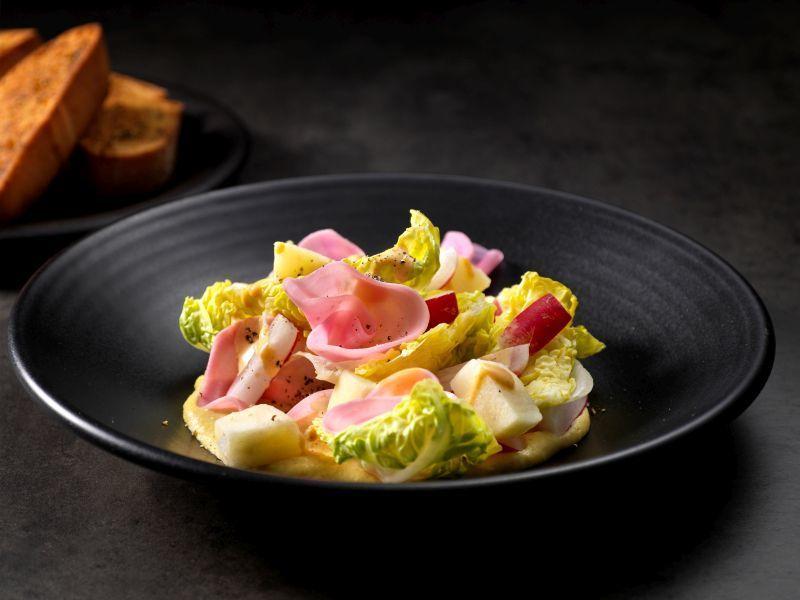 Chioggia beet salad hummus